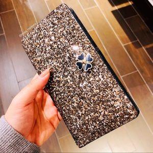 Kate Spade Odette Glitter Large Slim Bifold Wallet